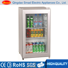 70L CE/SAA/RoHS/SAA Glass Door Mini Refrigerator