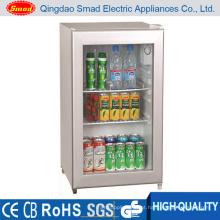 70L CE / SAA / RoHS / porta de vidro SAA Mini refrigerador