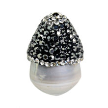 Wholesale Mushroom Shape Pearl Pendant Bead Accessory 25*15mm