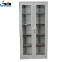 2018 hot sale good quality office used two door glass file cabinet