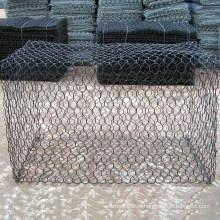 Покрынная PVC Ячеистая сеть gabion камень клетка