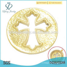 Дешевые 22 мм сплава позолоченные стекла плавающей прелести медальон крест окна пластин украшения