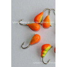 2014 New Style Factory Price Tungsten Ice Jig Head Orange