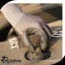 SRSAFETY 15G knitted nylon & spandex coated black nitrile work gloves