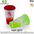 Taza de Cereal de desayuno promocional nuevo plástico ensalada Shaker Cup (HDP-2077)