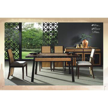 Dining Room Table and Six Chair Set