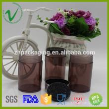 Transparent recyclage promotionnel vide rondes pots PS plastique avec impression