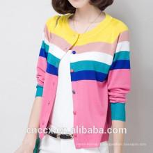 15STC6707 vêtements cardigan en bambou coloré