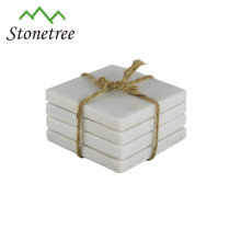 Juegos de posavasos de mármol cuadrado