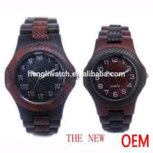 Reloj de ébano de moda, relojes de madera (JA-15013)