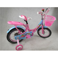 Pink Color Girl Children Bicycle with Basket