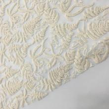 Garment Cotton Yarn Embroidery On Nylon Mesh
