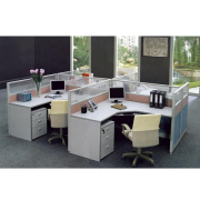 Modern 4 seat straight workstation,linear steel frame office partition