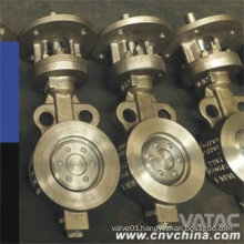 Lever Operated Wcb/CF8/CF8m Double Eccentric Butterfly Valve