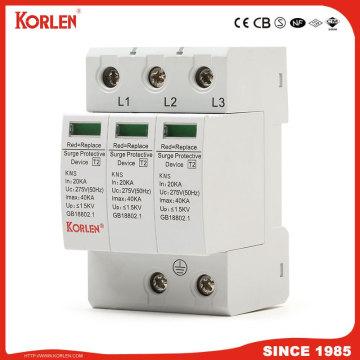 Lightning Surge Arrester 40ka Kns Surge Protection Device Power SPD 3p