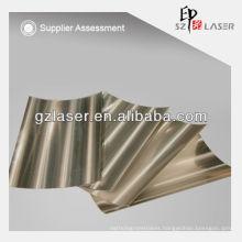 Hot sell hologram lamination film for paper sand sliver light pillar film