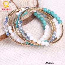 Heißer Verkaufs-großer Spulen-Shell-Kristalltürkis-Armband (BR125161)