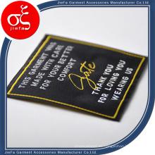Etiqueta tejida marca de encargo suave de la ropa / etiqueta tejida satén