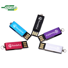 Heißer Verkauf Billig Swivel / Rotierenden Metall Flash Disk Memory USB mit Schlüsselbund