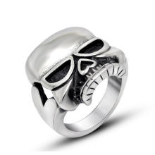 Нержавеющая кости черепа мужская кольцо панк ювелирных изделий