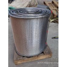 Bande transporteuse à armure composée de fil en spirale ronde