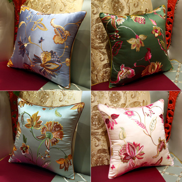 Hand Embroidered Cushion Or Throw Pillow