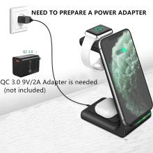 Chargeur sans fil 3 en 1 pour Apple Airpods