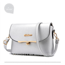 Hot Sell leather shoulder trend women diagonal bags for Young Ladies Lulu packet sheepskin designer little girl handbag HB06