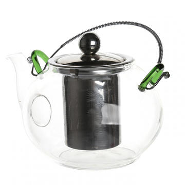High Quality for Manufacturers Supply New Type Glass Teapot, Glass Tea Kettle, Glass Tea Cups, Hand Blown Teapot 900ml Glass Blooming and Loose Leaf Teapot export to Equatorial Guinea Exporter