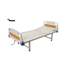 Heißer Verkaufs-preiswerte einzelne Kurbel-medizinische Bett- / PE-Bett-Kopf- und Streifen-Art-Bett-Oberfläche