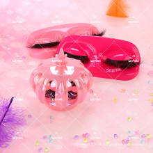 Girly Cute Crown Pink Holographic Lash Case with Mask Tray Own Logo Branding Customized Princess 10D Mink Eyelashes Box Wholesal