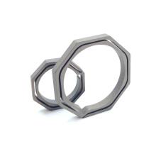 TC4 Octagon Keyring Titanium Keychain Split Key Ring