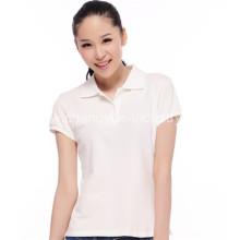 Высокое качество удобные твердых рубашки-поло для женщин