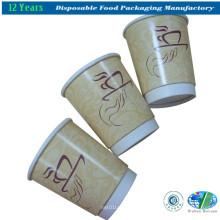Einmalige Hot Coffee Papierbecher mit Deckel