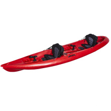 LSF Double Seat 2 Person Tandem 12.8FT Fishing Sit On Top Canoe LLDPE Plastic Kayak