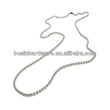 "Fashion High Quality Metal 36"" Stainless Steel Ball Chain Necklace"