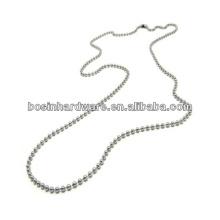 """Мода высокого качества металла 36 """"из нержавеющей стали мяч цепи ожерелье"""