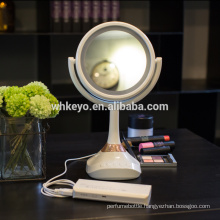 2017 hot new design make up mirror with led light aluminium bluetooth led makeup mirrors