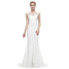 Starzz 2016 sin mangas de piso de longitud elegante vestido de noche formal de encaje blanco 8 tamaño EE.UU. 2 ~ 16 ST000085-2