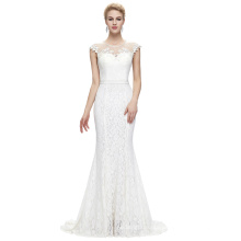 Starzz 2016 Sleeveless Floor-Length Elegant White Lace Formal Evening Dress 8 Size US 2~16 ST000085-2