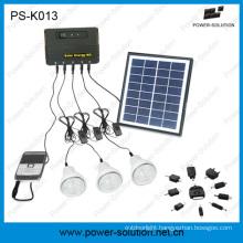 Qualified 4W Solar Panel 3PCS LED Bulbs Solar Kit for Family (PS-K013)