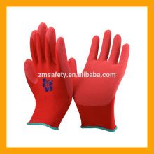 EN388 Guantes de seguridad industrial de madera de látex de espuma roja