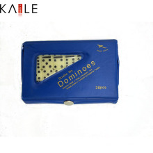 Pieza de dominó de marfil con caja de PVC
