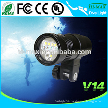 Hi-max V14 Scuba led wide angle diving video light torch