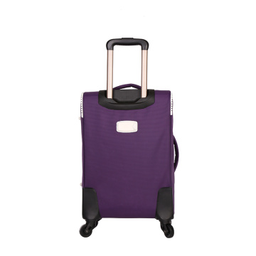 4pcs polyester trolley bagage avec roues