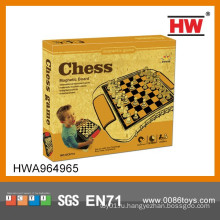 2014 Горячие продажи магнитных международных пластиковых шахматных фигур