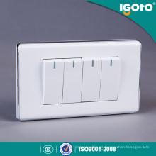 Interruptor eléctrico de pared de 4 maneras de estilo americano de 4 vías para el hogar