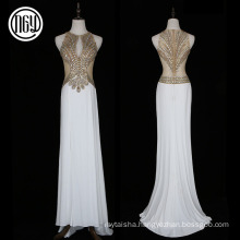 Floor-length elegant new gold western stone work bridal dress