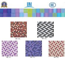 Gebeizt / farbig / Schwimmbad / TV Wand / Glas Mosaik