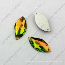 La venta al por mayor de China alta refracción sin plomo cortó el cristal plano flojo posterior decorativo de la máquina para el vestido de boda